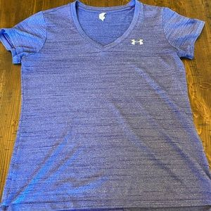Under armour heat gear purple workout shirt EUC